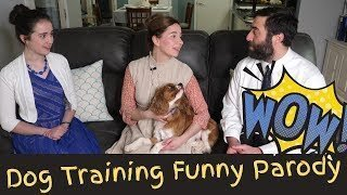 funny puppy video - parody about dog training