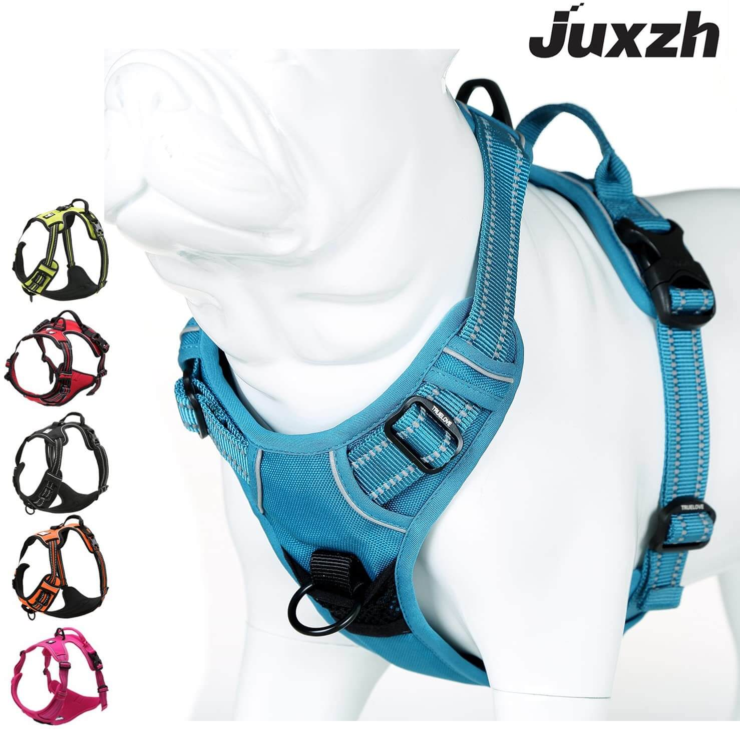 dog harness - full chest with front clip