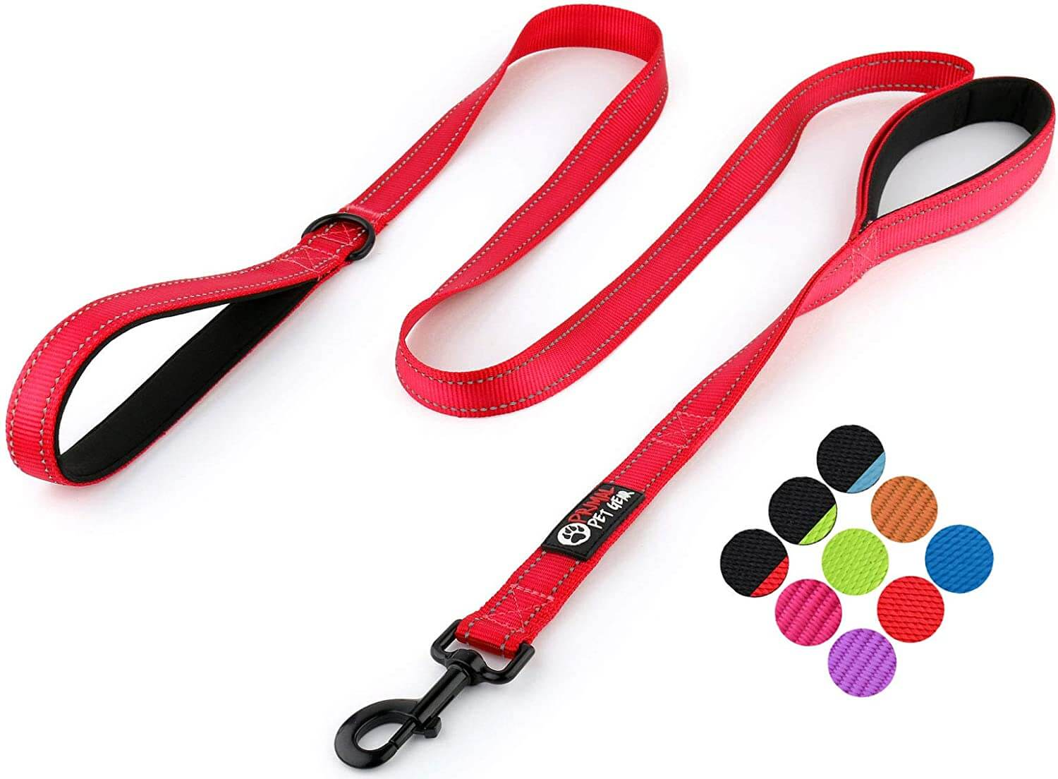 dog leash - long with 2 handles